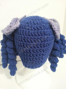 Arthritis Awareness Curly Pigtail Beanie Hat Crochet Pattern (10)