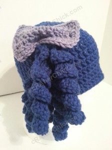 Arthritis Awareness Curly Pigtail Beanie Hat Crochet Pattern (14)