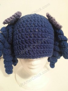 Arthritis Awareness Curly Pigtail Beanie Hat Crochet Pattern (15)