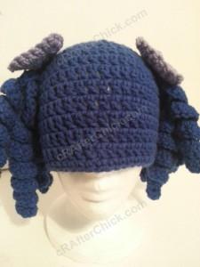 Arthritis Awareness Curly Pigtail Beanie Hat Crochet Pattern (15)
