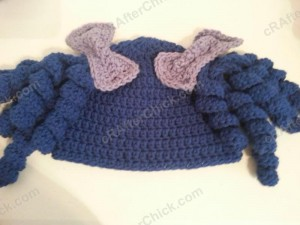 Arthritis Awareness Curly Pigtail Beanie Hat Crochet Pattern (4)