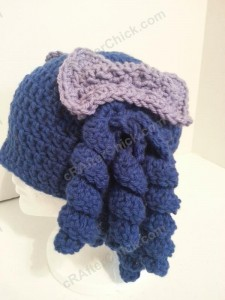 Arthritis Awareness Curly Pigtail Beanie Hat Crochet Pattern (7)