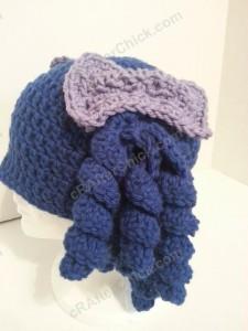 Arthritis Awareness Curly Pigtail Beanie Hat Crochet Pattern (7)