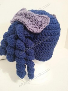 Arthritis Awareness Curly Pigtail Beanie Hat Crochet Pattern (9)