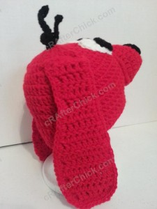 Clifford the Red Dog Children's Book Character Hat Crochet Pattern (12)