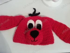 Clifford the Red Dog Children's Book Character Hat Crochet Pattern (19)