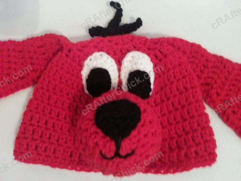 Clifford The Red Dog Childrens Book Character Hat Crochet Pattern