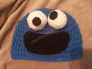 Cookie Monster Character Hat Crochet Pattern (2)