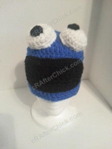Cookie Monster Character Hat Crochet Pattern (3)