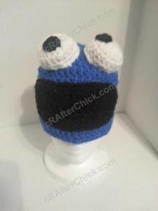 Cookie Monster Character Hat Crochet Pattern (3)