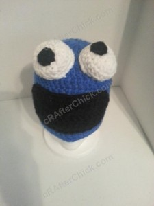 Cookie Monster Character Hat Crochet Pattern (4)
