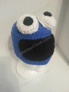 Cookie Monster Character Hat Crochet Pattern (5)