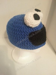 Cookie Monster Character Hat Crochet Pattern (6)