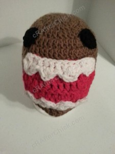 Domo Kun Beanie Hat Crochet Pattern Front Worn View