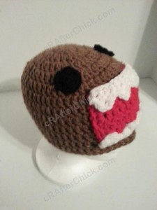 Domo Kun Beanie Hat Crochet Pattern Profile View