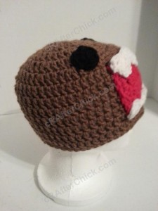 Domo Kun Beanie Hat Crochet Pattern Side Profile Picture