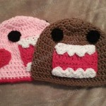 Domo Kun and Pink Domo Love Beanie Hats Crochet Pattern