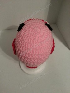 Domo Pink Love Beanie Hats Crochet Pattern Rear View