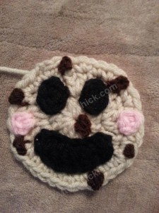 Happy Chocolate Chip Cookie Applique Crochet Pattern (5)