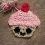 Happy Cupcake Applique Crochet Pattern