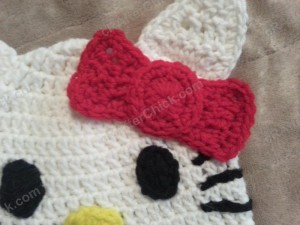Hello Kitty Character Beanie Hat Crochet Pattern (2)