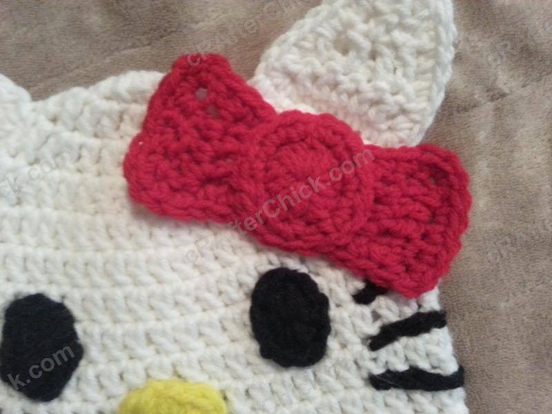 Free Crochet Pattern Hello Kitty Hat : Hello Kitty Character Beanie Hat Crochet Pattern ...