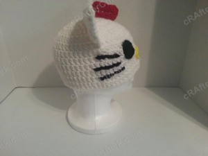 Hello Kitty Character Beanie Hat Crochet Pattern (4)