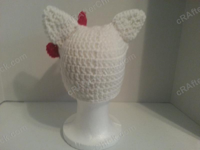 Hello Kitty Character Beanie Hat Crochet Pattern Crafterchick