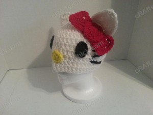 Hello Kitty Character Beanie Hat Crochet Pattern (7)
