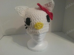 Hello Kitty Character Beanie Hat Crochet Pattern (8)