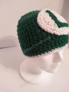 Luigi Beanie Hat Crochet Pattern Alternate View