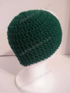 Luigi Beanie Hat Crochet Pattern Right Back View