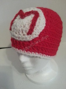 Mario Beanie Hat Crochet Pattern Front Left View