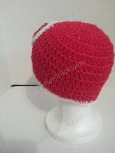 Mario Beanie Hat Crochet Pattern Left Back View