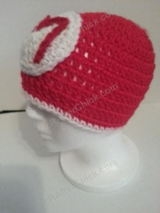 Mario Beanie Hat Crochet Pattern Left Profile View