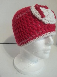 Mario Beanie Hat Crochet Pattern Right Front View