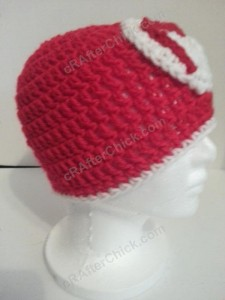 Mario Beanie Hat Crochet Pattern Right Profile View