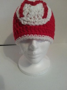 Mario Beanie Hat Crochet Pattern front view