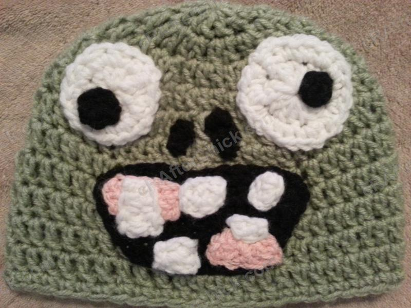 Free Crochet Patterns For Character Hats : Plants vs. Zombies Zombie Character Beanie Hat Crochet ...