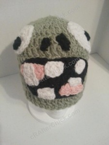 Plants vs. Zombies Zombie Character Beanie Hat Crochet Pattern (2)