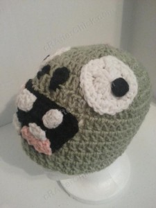 Plants vs. Zombies Zombie Character Beanie Hat Crochet Pattern (7)