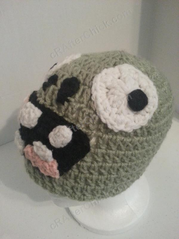 Plants vs. Zombies Zombie Character Beanie Hat Crochet Pattern ...