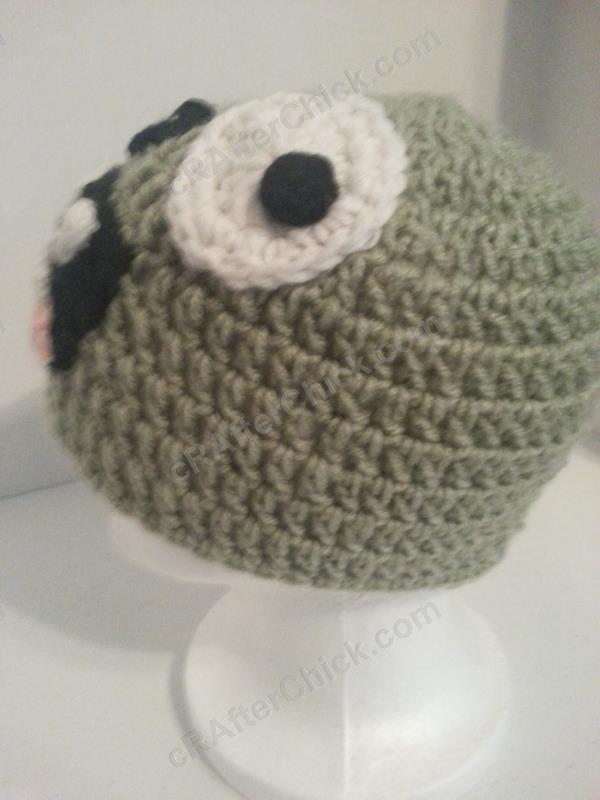 Crochet Zombie Patterns : Plants vs. Zombies Zombie Character Beanie Hat Crochet Pattern ...