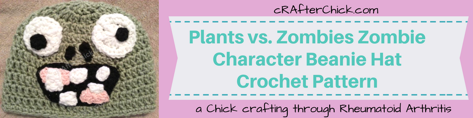 Plants vs. Zombies Zombie Character Beanie Hat Crochet Pattern_ a chick crafting through Rheumatoid Arthritis cRAfterChick.com