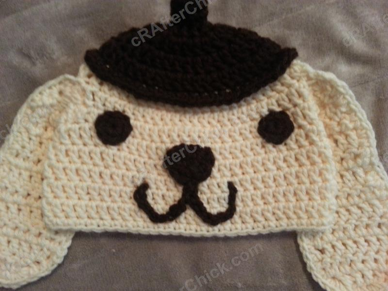 Pompompurin Purin the Sanrio Dog Character Hat Crochet Pattern