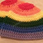 Rainbow Gay Pride Striped Beanie Hat Crochet Pattern for Teen/ Womens / Men sizes