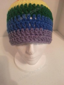 Rainbow Gay Pride Striped Beanie Hat Crochet Pattern for Teen Womens Men sizes (8)