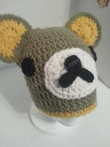 Rilakkuma and Korilakkuma Character Beanie Hats Crochet Pattern (16)