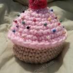 Sweet Oversized Cupcake Pincushion Crochet Pattern