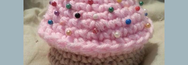 Sweet Oversized Cupcake Pincushion Crochet Pattern
